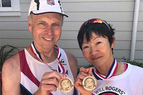 Ron and Rikako 2017 Jul 4th Gold Medal